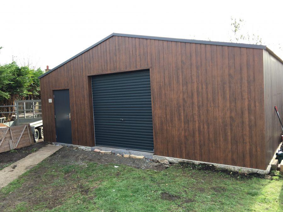 apex roof steel garage